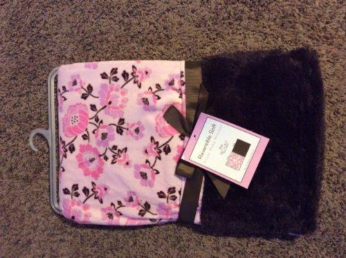 "Reversible Soft ""Babushka Flower"" Plush Baby Blanket - 1"