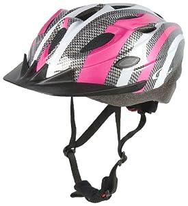Sport Direct SH515 55-58cm Junior/ Ladies Helmet - Pink/ Silver from Sport Direct
