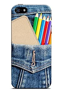 GeekCases Pencil Jens Back Case for Apple iPhone 5 & 5S