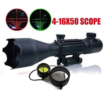 Ledsniper® Sight 4-16x50eg Red Green Dot Reflex 20mm Shotgun Sight Red Dot Rifle Scopes Tactical for Hunting by Ledsniper®(us seller)