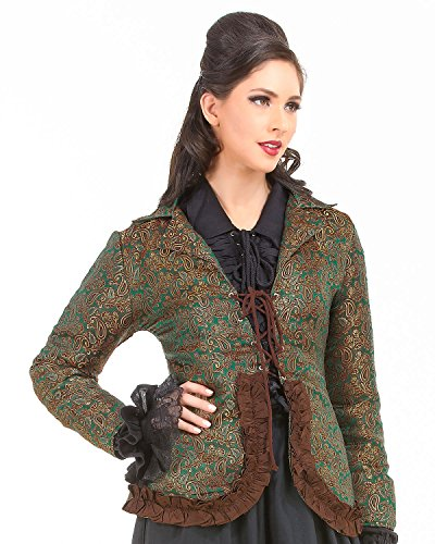 Cheng I Sao Brocade Privateer Pirate Renaissance Medieval Womens Costume Jacket