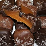 Chocolate Covered Caramels with Sea Salt (Select Milk or Dark Chocolate) (With a No Melt Guarantee)
