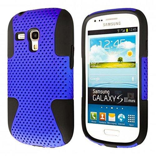 ECENCE Samsung Galaxy S3 mini i8190 i8200 Outdoor Silikon TPU case schutz hülle handy tasche cover schale schwarz und blau 41010403