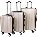 Vojagor TRSE06 Set of 3 Hard Shell Suitcases DIFFERENT COLOURS...