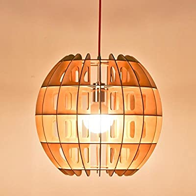 SNEED-Simple European-style Design lighting Creative wood chandelier Wooden craft Pendant Hanging Lamp/ Living Room/Bedroom/Dining/Bar-1 light