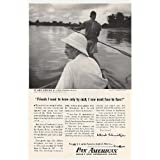 1954 Pan American Airlines Ad, Dr. Albert Schweitzer, Print