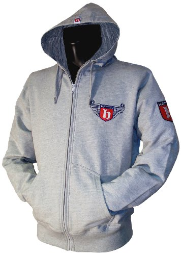 Hatton Boxing Full Zip Printed Logo Hoody Grey Marl Youth