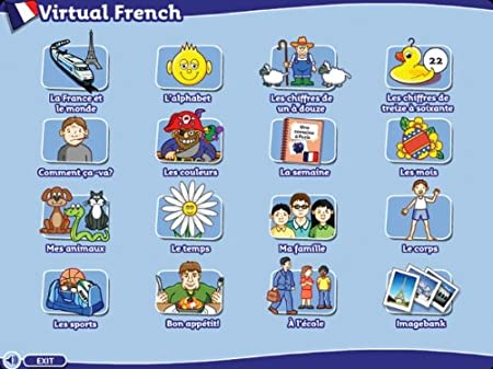 Virtual French for Key Stage 2 - beginner's French CD-ROM from Sherston and Collins (home user)