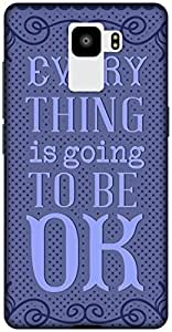 The Racoon Grip printed designer hard back mobile phone case cover for Huawei Honor 7. (Be OK Blue)