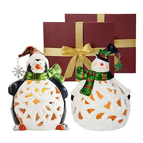 snowman-peguin-flameless-candles-luminaries-w-timers-in-gift-boxes