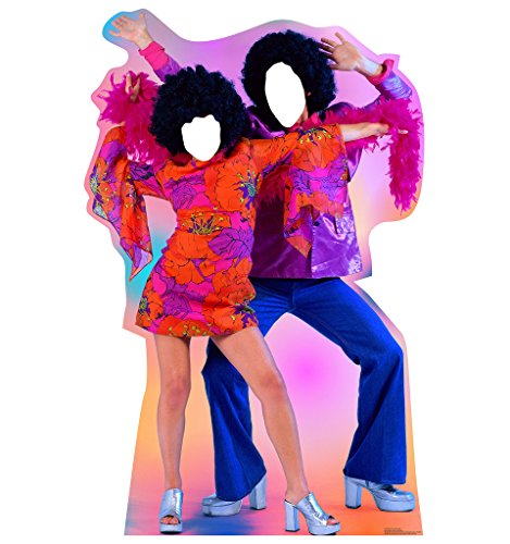 70's Dance Couple Stand-In - Advanced Graphics Life Size Cardboard Standup