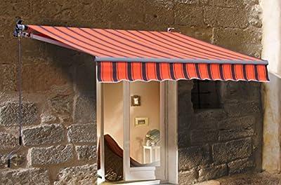 Markise 250x200cm Orange/Braun von Grasekamp - Gartenmöbel von Du und Dein Garten