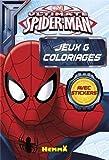 MARVEL ULTIMATE SPIDER-MAN BLOC DE JEUX ET COLORIAGES AVEC STICKERS...