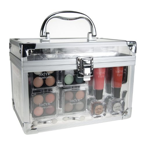 Technic Essentials Makeup Kits With Clear Cosmetic Carry Case