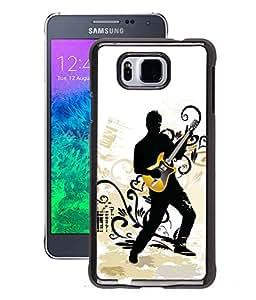 Fuson 2D Printed Music Wallpaper Designer Back Case Cover for Samsung Galaxy Alpha - D799