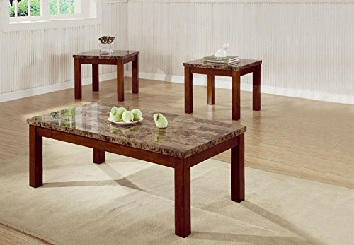 coaster-700305-occasional-3pc-coffee-end-table-set-with-marble-look-top