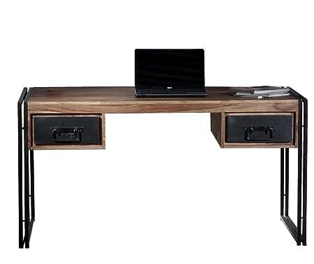 Sit-Möbel 9207-01 scrivania Panama Shesham naturale con struttura e utilizzare tracce, 150 x 80 x 76 cm, 2 cassetti