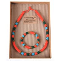 Ndebele Beaded Necklace and Bracelet Set