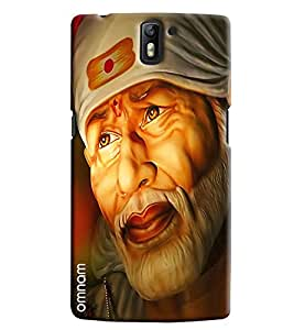Omnam Devotional Sai Baba Face Printed Designer Back Cover Case For One Plus One