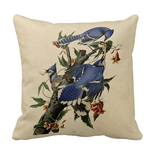 Kieffer shop Blue Jay Painting 18*18 inch cotton pillowcase