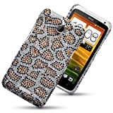 HTC ONE X LEOPARD SPOTTED DIAMANTE DISCO BLING BACK COVER BY CELLAPOD CASESby CELLAPOD