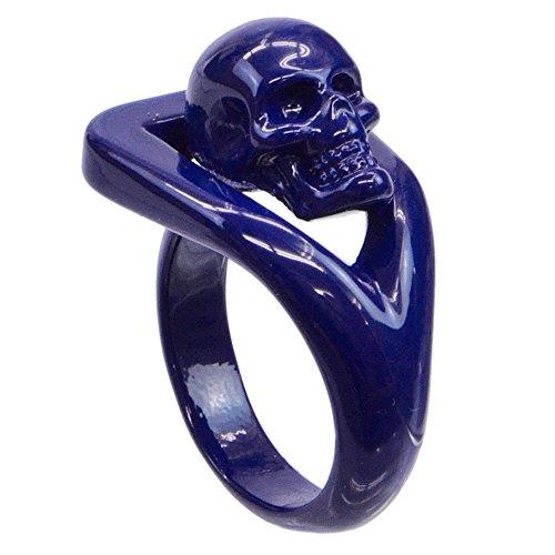 (アレキサンダーマックイーン)ALEXANDER MCQUEEN ファッションリング 指輪 343863-J160V-4035 ブルー [並行輸入品]