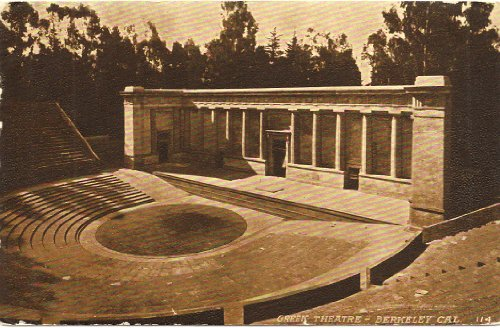 1910 Vintage Postcard Greek Theatre Berkeley