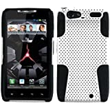 Asmyna AMOTXT912HPCAST004NP Astronoot Premium Hybrid Case with Durable Hard Plastic Faceplate for Motorola XT912 (Droid Razr) - 1 Pack - Retail Packaging - White/Black