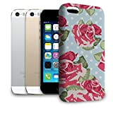English Roses Blue Polka Dots Phone Hard Shell Case for Apple iPhone 6 Plus 5S 5C 5 4 iPod & more - Apple iPhone 5S