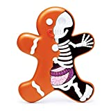 """Dissected Gingerbread Man Christmas Decorations Tree Ornaments Jason Freeny Skeletal Toys Micro Anatomic Hand Painted Skeleton Anatomy Artist Might Jaxx Art 6"""" Figure Collection"""