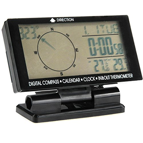 Auto Digital Electronic Compass With Clock Thermometer In/Out Travel Guiding Car Calendar (Electronics In Cars compare prices)