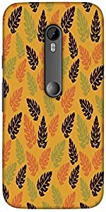 Snoogg Seamless Leaf Pattern Solid Snap On - Back Cover All Around Protection...
