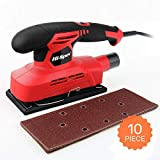 Hi-Spec 150W Power 1.3A Finishing Sander & 10pc Sanding Pad Kit Great for Finishing, Smoothing & Sanding Down Wood, Removing Paint, Varnish, Stains & Polishing (Color: D. Orbital Sander)