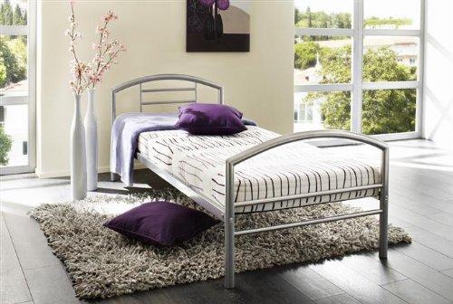 Kasper Wohndesign Melly Bett - 90 x 200 cm - Metall - alufarbig