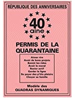 Carte Permis de la Quarantaine 40 x20.50 cm