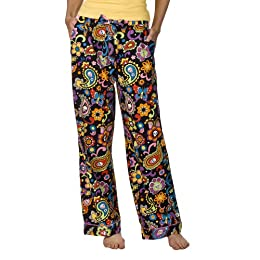 Nick and Nora Satin Sleep Pant  Black Sugar Secret Skulls  Target
