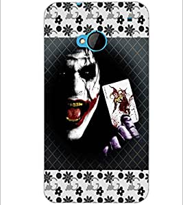 PrintDhaba Joker D-5692 Back Case Cover for HTC ONE M7 (Multi-Coloured)