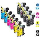 INKUTEN Compatible Brother LC103 LC-103 Set of 10 High Yield Ink Cartridges for Brother MFC-J870DW, MFC-J470DW, MFC-J475DW, MFC-J875DW, MFC-J650DW, MFC-J285DW, MFC-J6920DW, MFC-J450DW, MFC-J245, MFC-J6520DW, MFC-J6720DW Brother DCP-J152W.