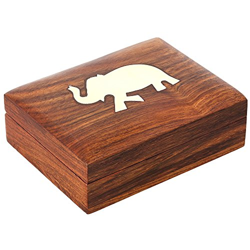 Decorative Playing Cards Wooden Gift Box Case