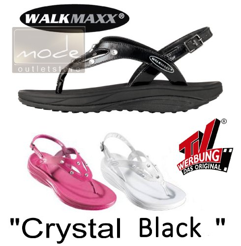 "WalkMaxx Fitness-Sandale ""Crystal"", ""black crystal"", 41"