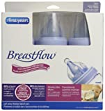 The First Years Breastflow BPA Free Bottle 3-Pack