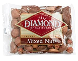 Diamond Mixed Nuts, Inshell, 16-Ounce Bags (Pack of 6)