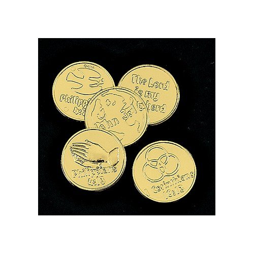 Plastic Bible verse Gold Coins (144 pc)