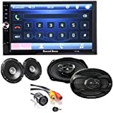 SoundBoss COMBO OF 2Din Bluetooth Car Video Player 7'' HD Touch Screen Stereo Radio FM/MP3/MP4/MP5/Audio/USB/TF...