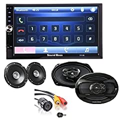 SoundBoss COMBO OF 2Din Bluetooth Car Video Player 7'' HD Touch Screen Stereo Radio FM/MP3/MP4/MP5/Audio/USB/TF/AUX/REAR VIEW CAMERA Connectivity +, 6