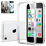 [AIR CUSHION] Spigen Apple iPhone 5C Case ULTRA HYBRID [Crystal Clear] [1 FREE Premium Japanese Screen Protector + 2 FREE Graphics] Scratch Resistant Bumper Case with Clear Back Panel for iPhone 5C – ECO-Friendly Package – Crystal Clear (SGP10675) Reviews