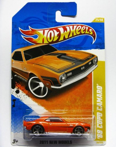 2011 Hot Wheels 25/244 - New Models 25/50 - '68 Copo Camaro (Orange)