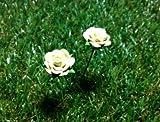 Mini Yellow Roses for Fairy Mini Garden (2 pcs)