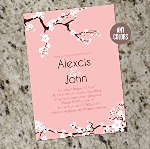 Cherry Blossoms - Custom Bridal Shower Invitations - Print Your Own