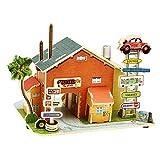 Happy Cherry 3D Puzzle Madera DIY Modelo Creativo Juguete Educativo Juego para Niño Niña - Casa en Estados Unidos- Motel